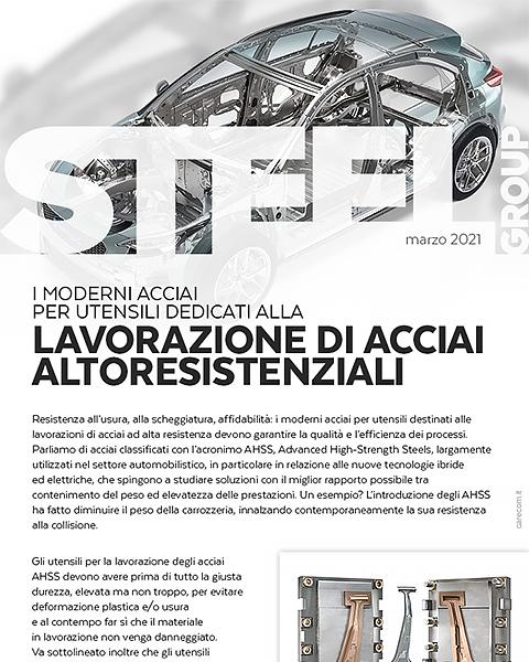 Steel Group | I moderni acciai per utensili dedicati alla lavorazione di acciai altoresistenziali.