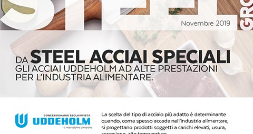 Steel Group - Copertina newsletter Acciai alimentari Uddeholm