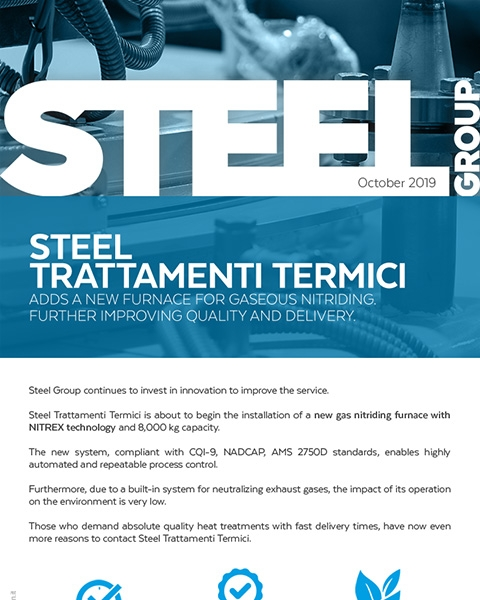 Steel Group - Newsletter october - New furnace