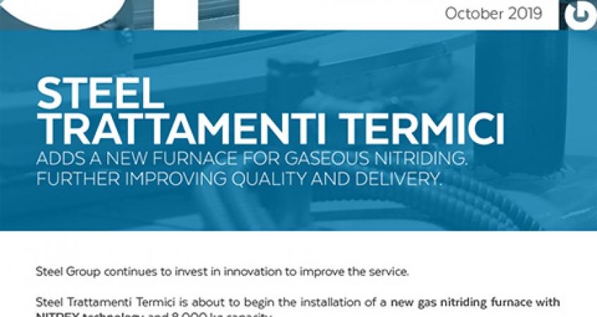 Steel Group - Newsletter october - New furnace