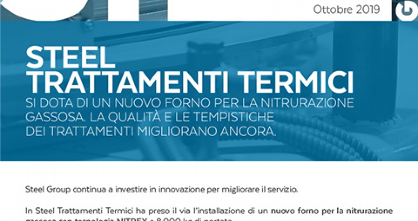 Steel Group - Newsletter ottobre '19 - Nuovo forno