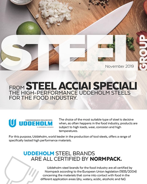Steel Group - Newsletter frontpage - Uddeholm Steels for the food industry