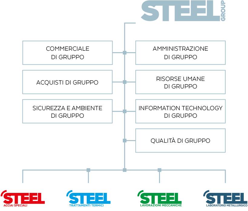 Steel Group - Organizzazione gruppo